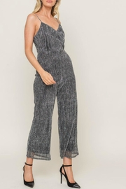Lush Sparkly Spaghetti Strap Jumpsuit - Side cropped