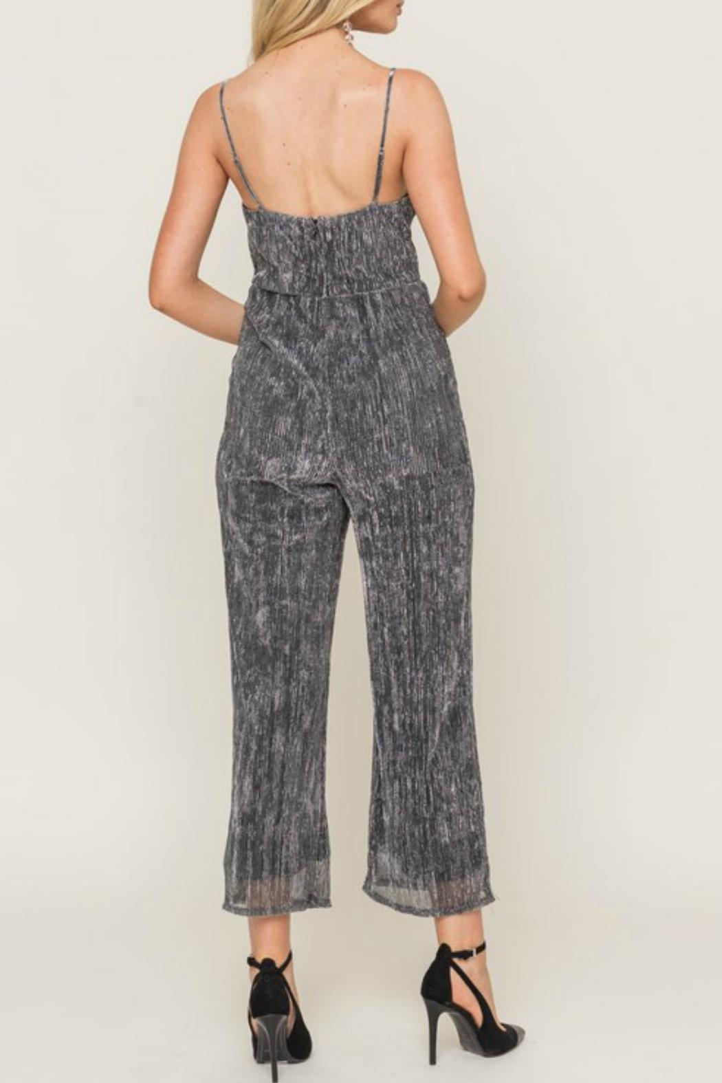 Lush Sparkly Spaghetti Strap Jumpsuit - Front Full Image