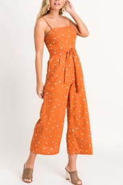 Lush Square Neckline Jumpsuit - Front full body