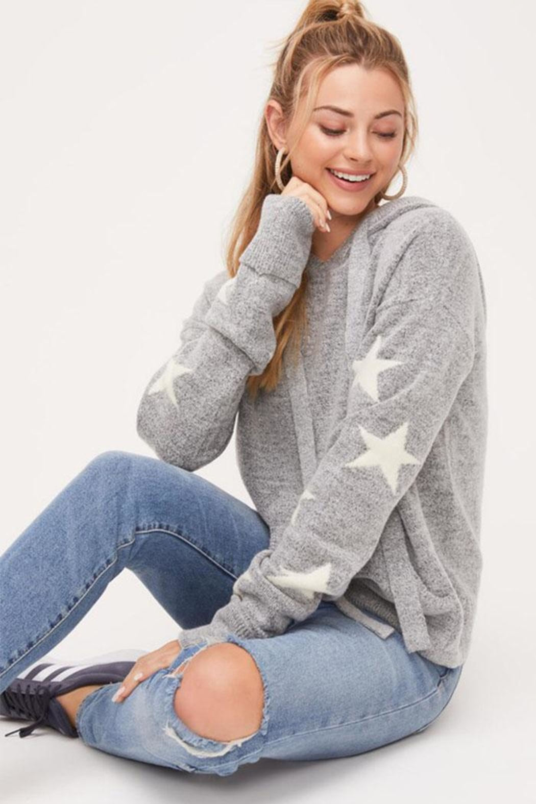 Lush Star Pullover Sweater - Front Full Image