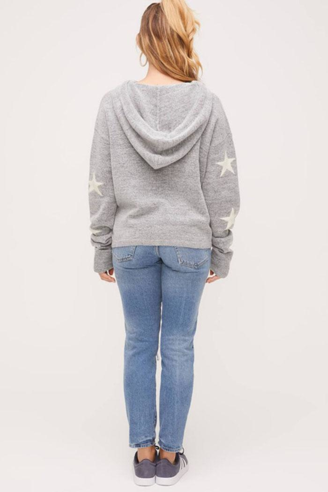 Lush Star Pullover Sweater - Back Cropped Image