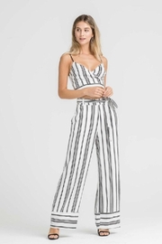 Lush Stripe Belted Pants - Front cropped