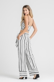 Lush Stripe Belted Pants - Side cropped