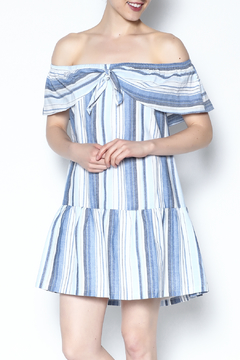 Shoptiques Product: Off Shoulder Stripe Dress
