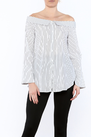 Lush Stripe Off-Shoulder Top - Product Mini Image