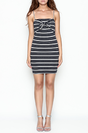 Lush Stripe Tie Dress - Front full body