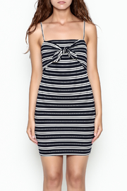 Lush Stripe Tie Dress - Front cropped
