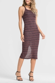 Lush Striped Cross Back Dress - Front cropped