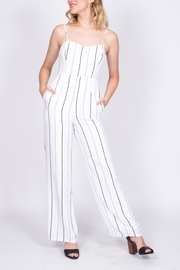Lush Striped Cutout Jumpsuit - Other