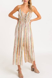 Lush Striped Front-Tie Jumpsuit - Side cropped