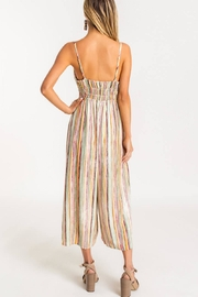 Lush Striped Front-Tie Jumpsuit - Back cropped