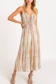 Lush Striped Front-Tie Jumpsuit - Product Mini Image