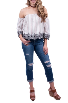 Lush Striped Off Shoulder Top - Product List Image