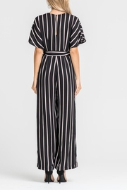 Lush Striped Tie Jumpsuit - Side cropped