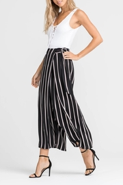 Lush Striped Wide-Leg Pants - Product Mini Image
