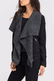 Lush Faux Suede Jacket - Front full body