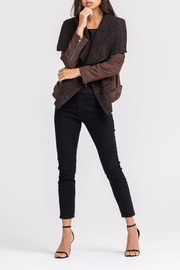 Lush Faux Suede Jacket - Front cropped