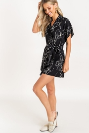 Lush Surplice Tie Romper - Side cropped