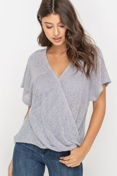 937ee902b1e18b ... Lush Surplice Top, Gray - Product List Image
