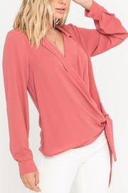 Lush Surplice Wrapped Blouse - Product Mini Image