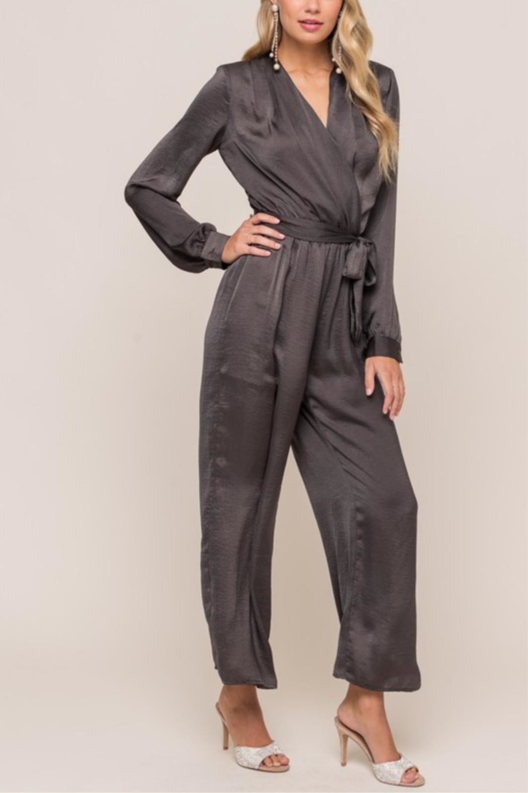 Lush Take Me Out Jumpsuit - Front Cropped Image