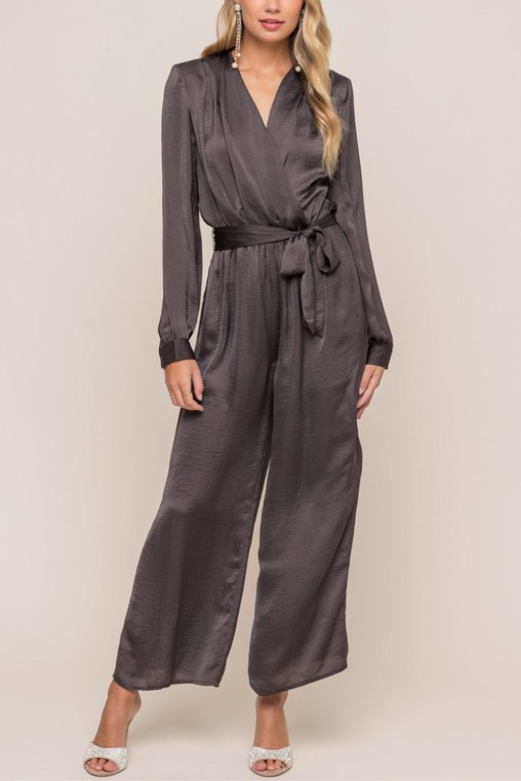 Lush Take Me Out Jumpsuit - Back Cropped Image