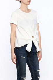 Lush White Tie Front Shirt - Product Mini Image