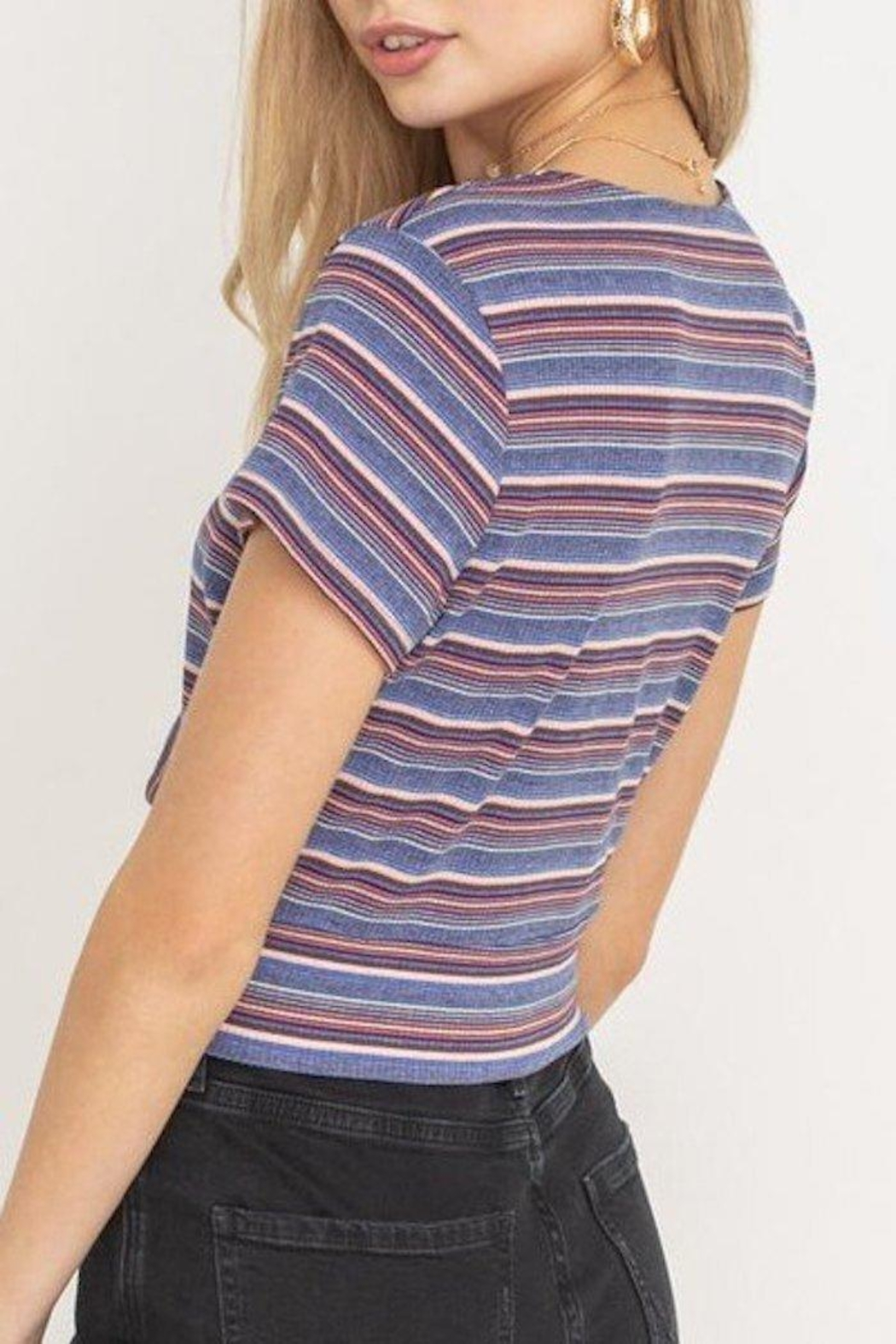 Lush Tie Front Top - Side Cropped Image