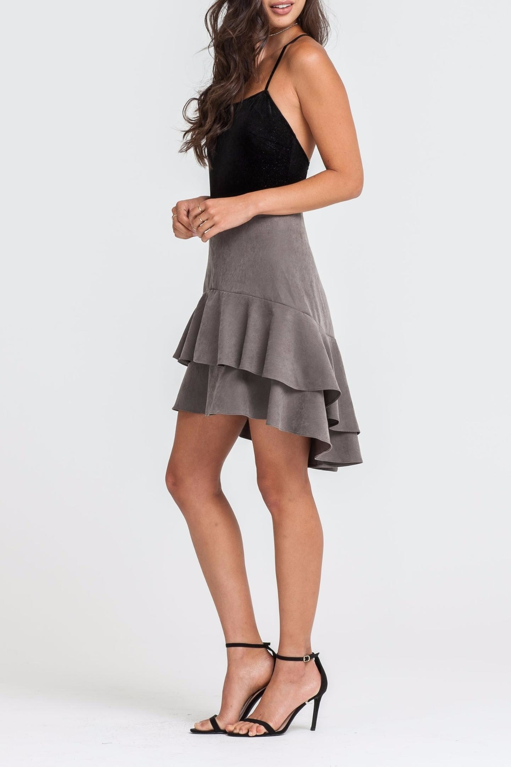 Lush Tiered Skirt - Side Cropped Image