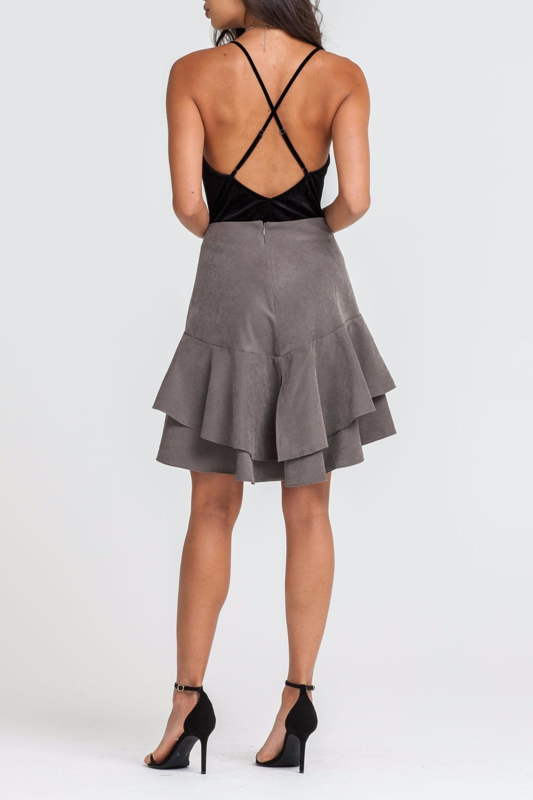 Lush Tiered Skirt - Front Full Image