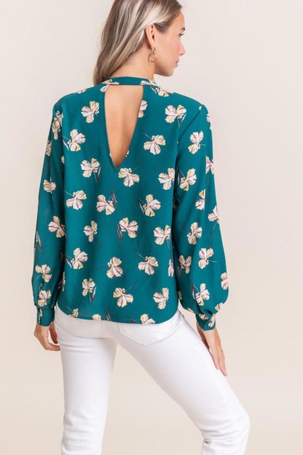 Lush Touch Of Floral - Back Cropped Image