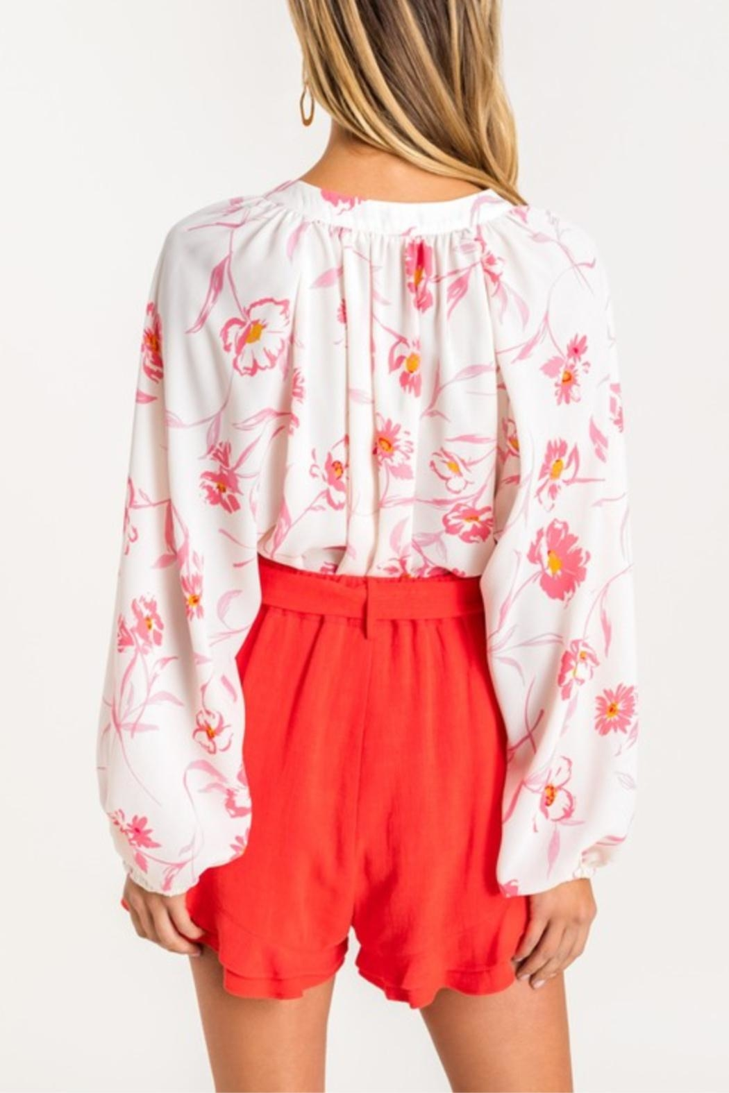 Lush Tropical Grounds Blouse - Back Cropped Image