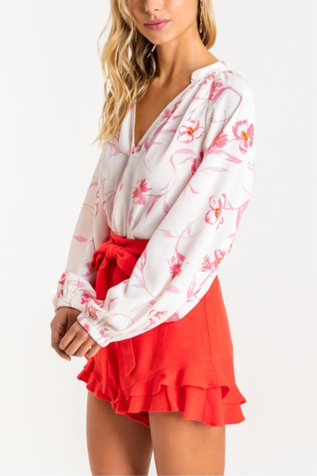 Lush Tropical Grounds Blouse - Side Cropped Image