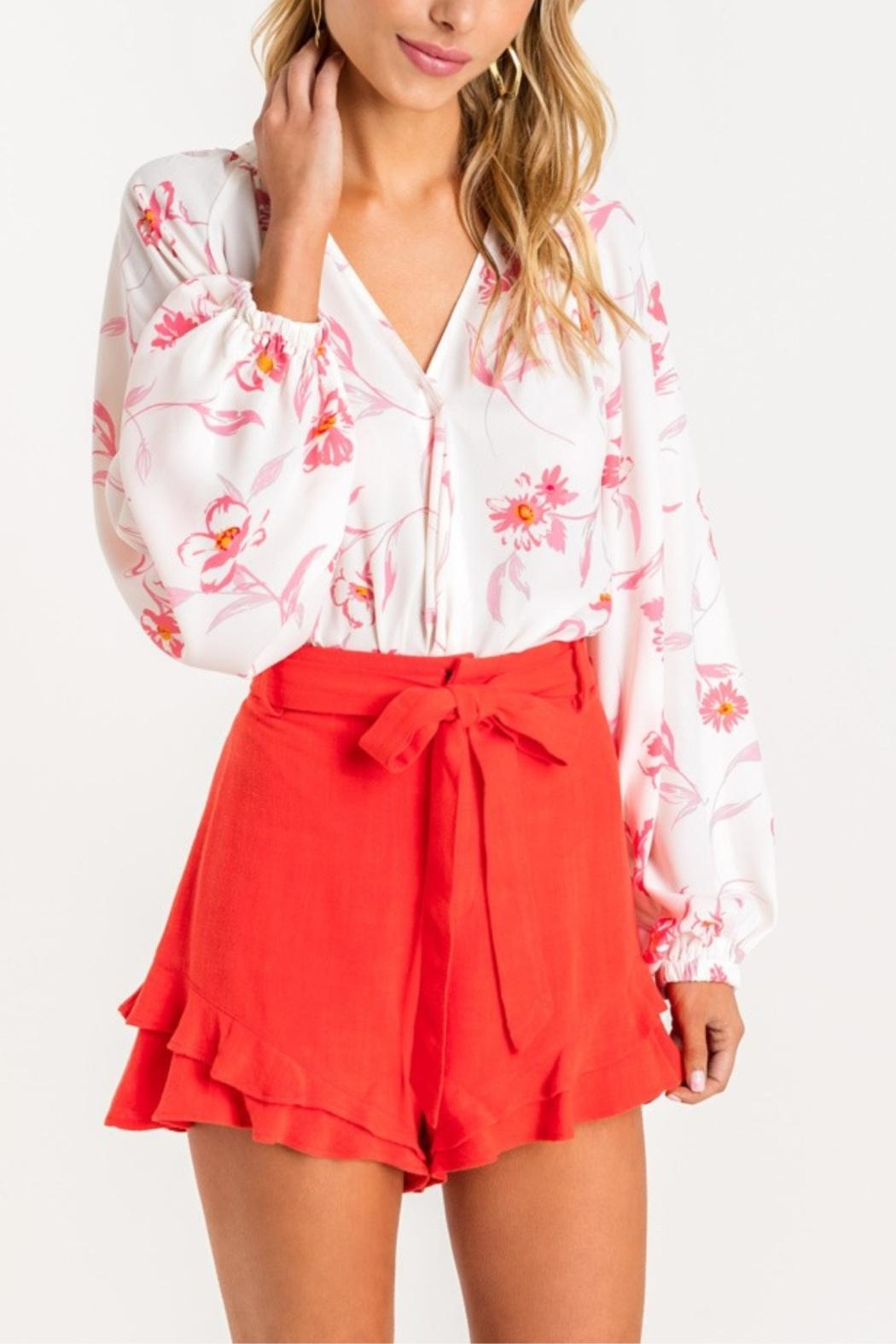 Lush Tropical Grounds Blouse - Front Full Image