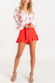 Lush Tropical Grounds Blouse - Front cropped