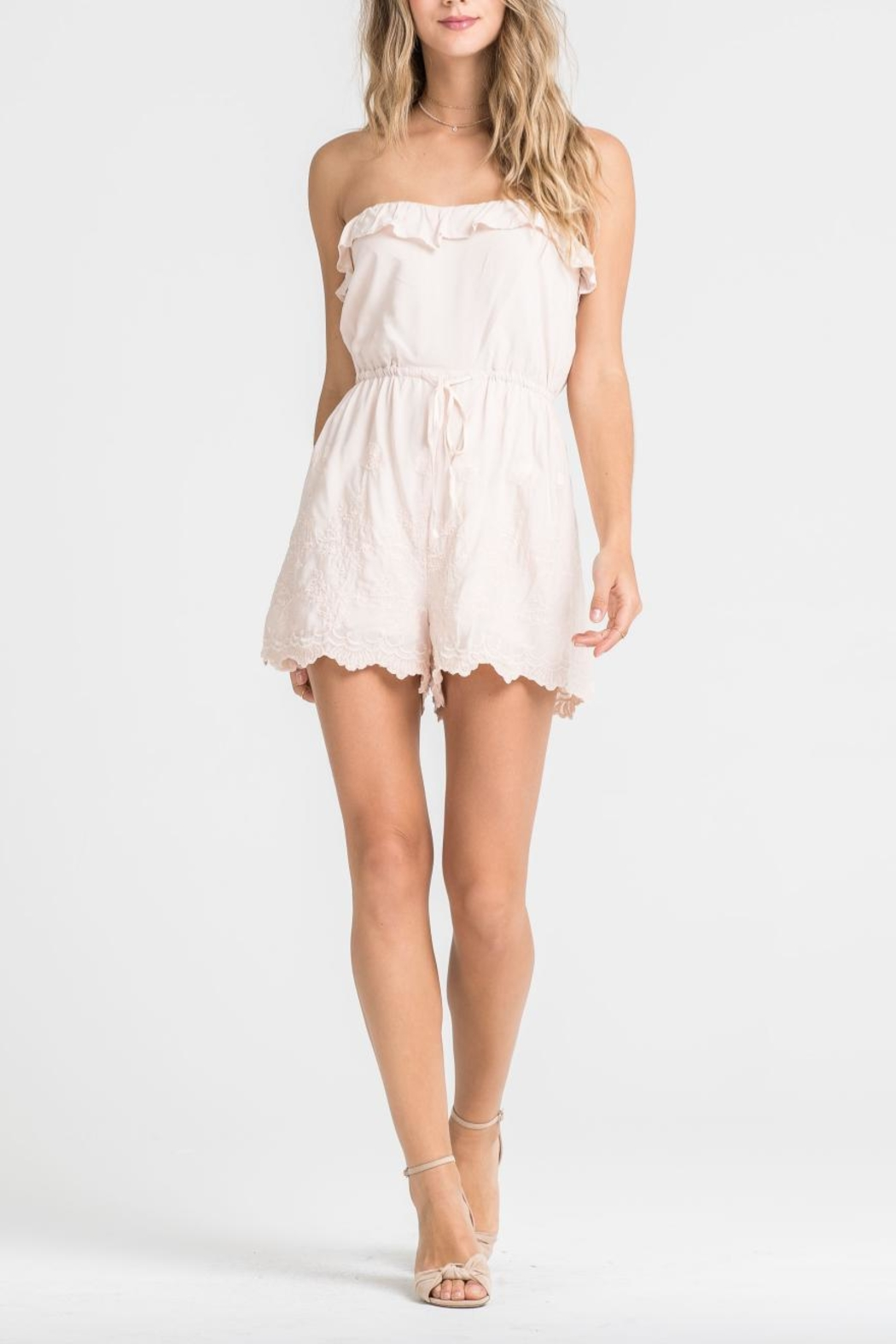 Lush Tube Top Romper - Front Cropped Image