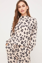 Lush Turtleneck Print Sweater - Product Mini Image