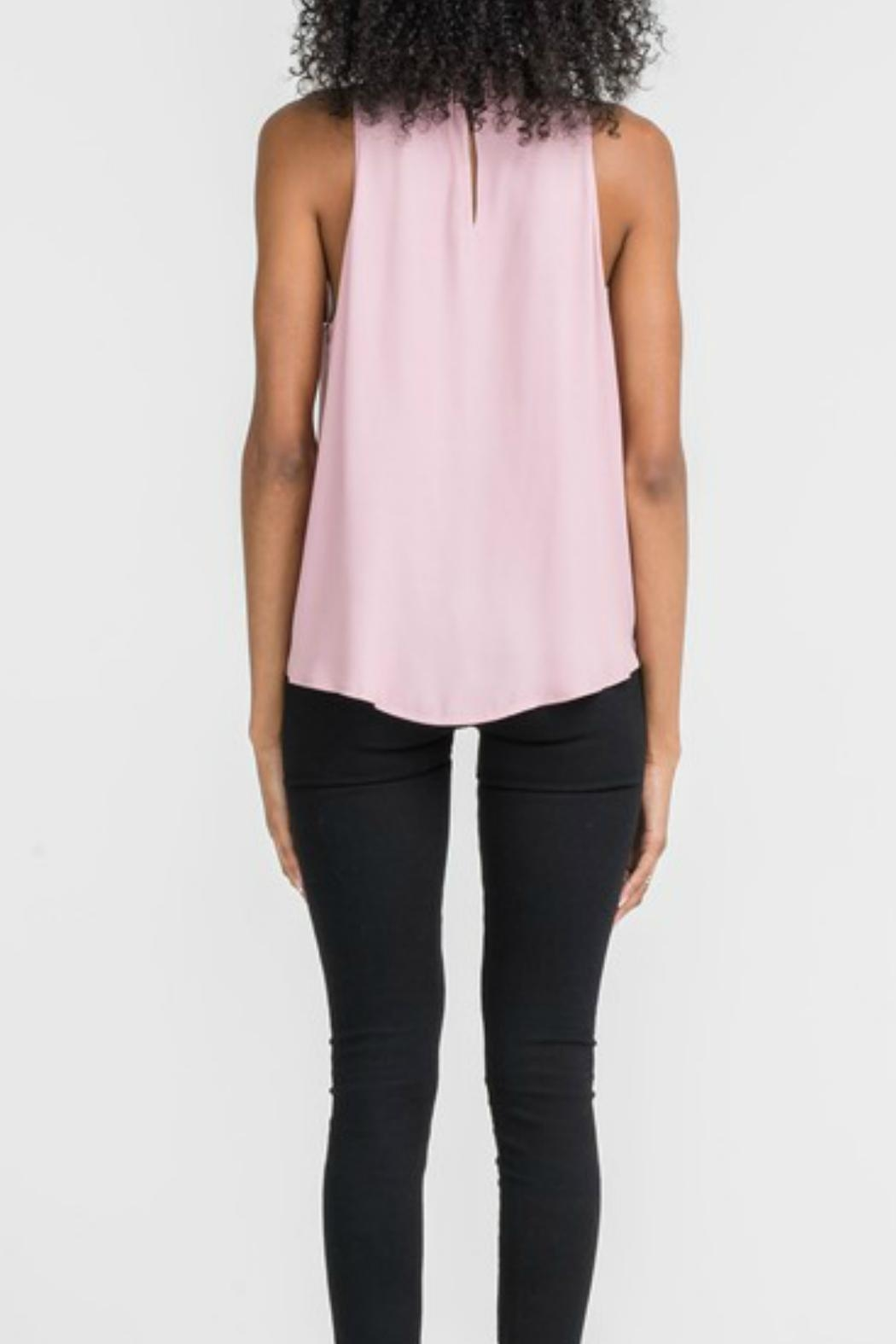 Lush Twist Neck Overlay Top - Side Cropped Image