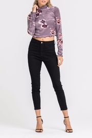 Lush Velvet Crop Top - Front cropped