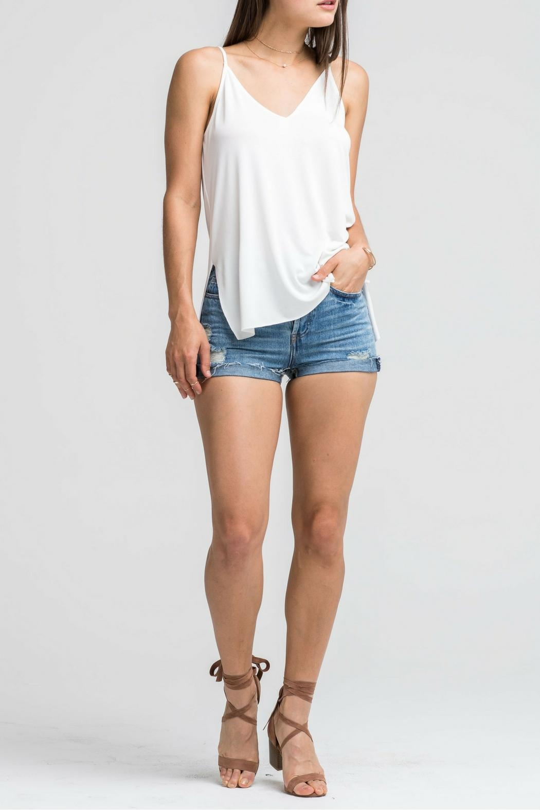 Lush White Cami Top - Front Full Image