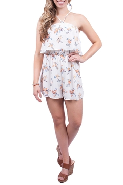 Lush White Floral Romper - Product List Image