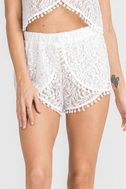Lush White Lace Shorts - Product Mini Image