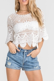 Lush White Lace Top - Product Mini Image
