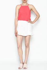 Lush White Ruffle Shorts - Side cropped