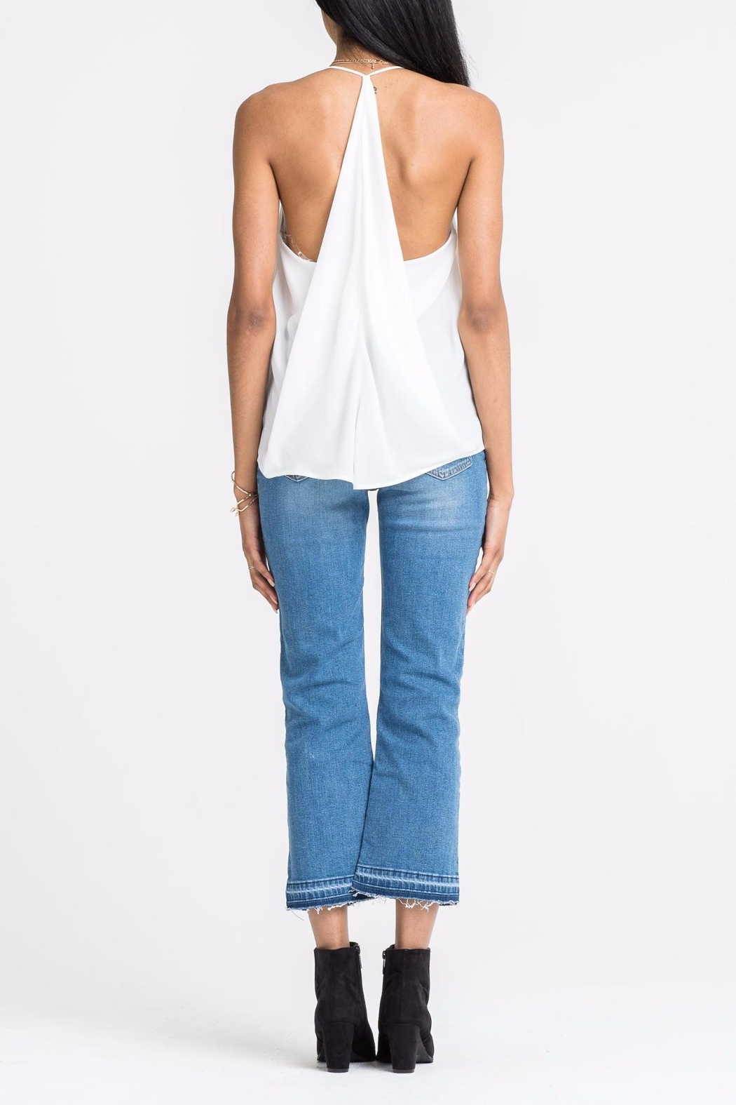 Lush White Ruffle Tank - Side Cropped Image