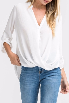 Shoptiques Product: White Twist-Front Shirt