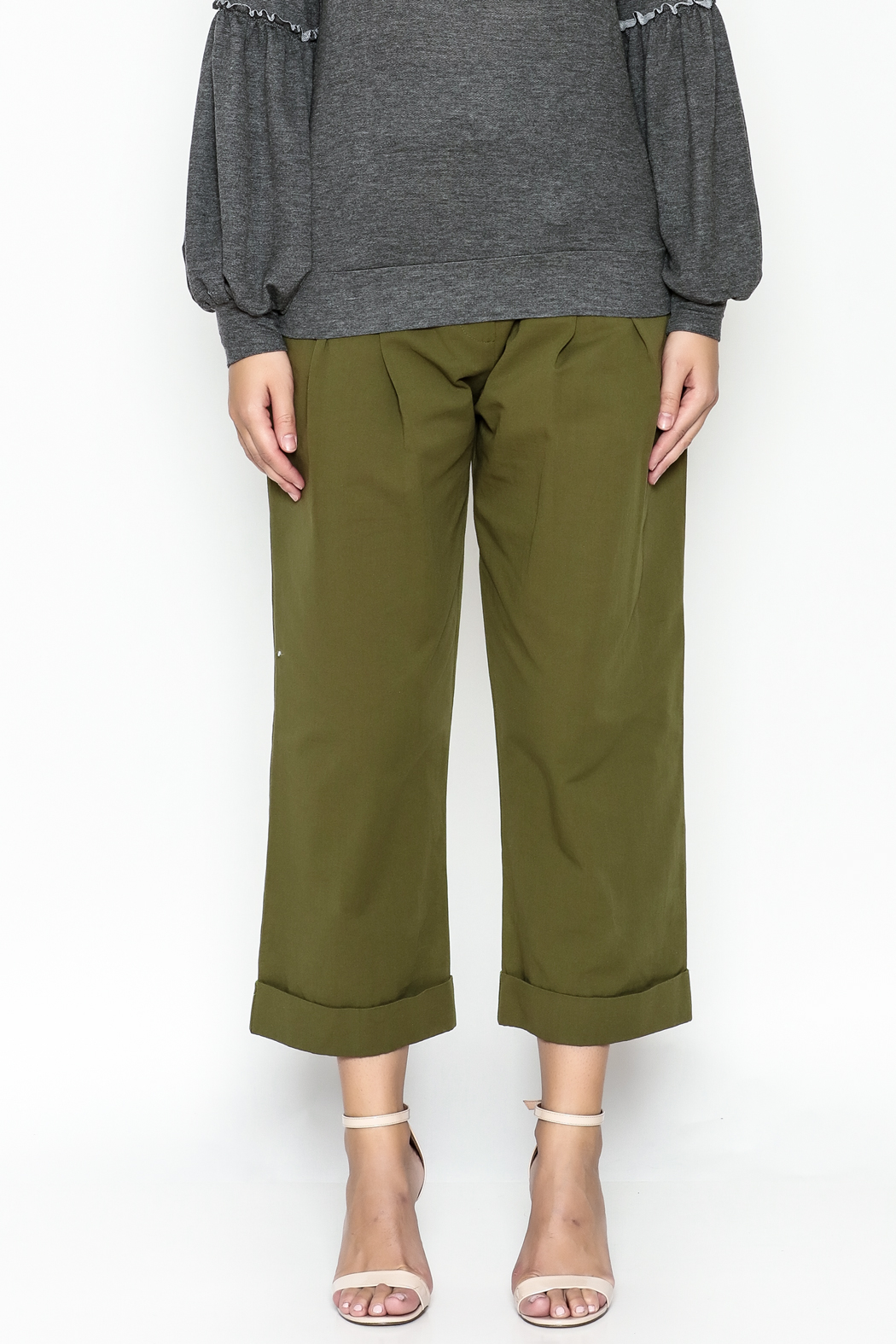 Lush Wide Leg Trousers - Front Full Image
