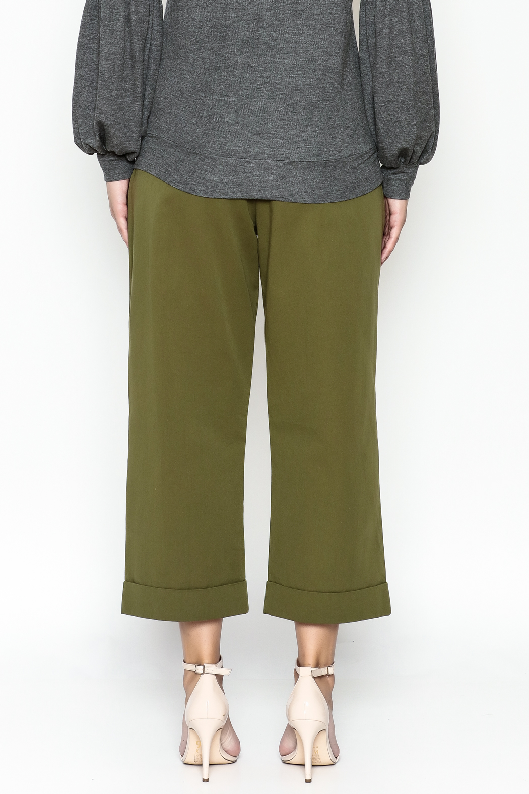 Lush Wide Leg Trousers - Back Cropped Image
