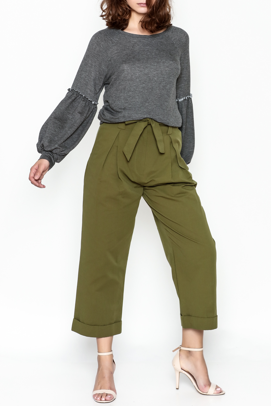 Lush Wide Leg Trousers - Side Cropped Image