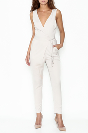 Lush Wrap Front Sleeveless Pantsuit - Side cropped